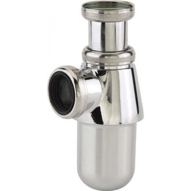 Siphon d'évier en laiton chromé brillant - réglable en hauteur NICOLL