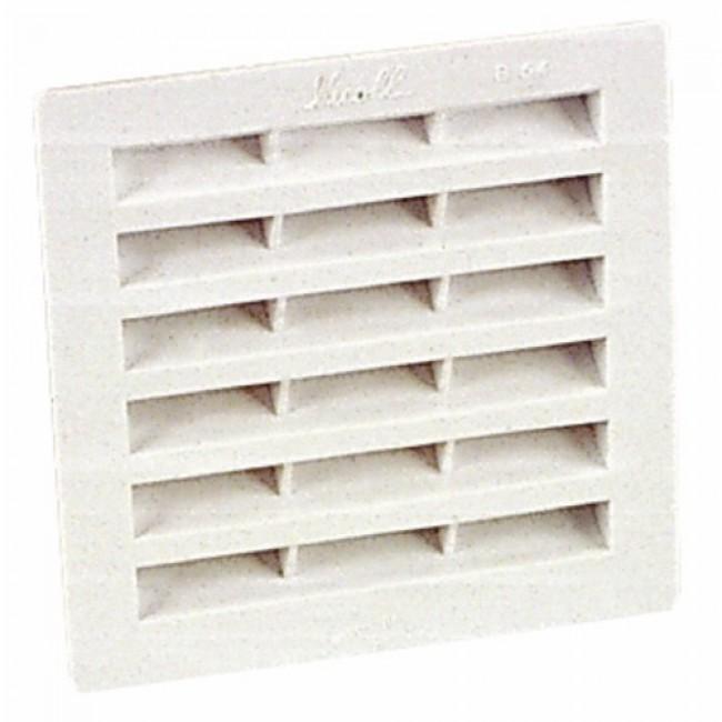Grille de ventilation B104 carrée à visser ou à coller NICOLL