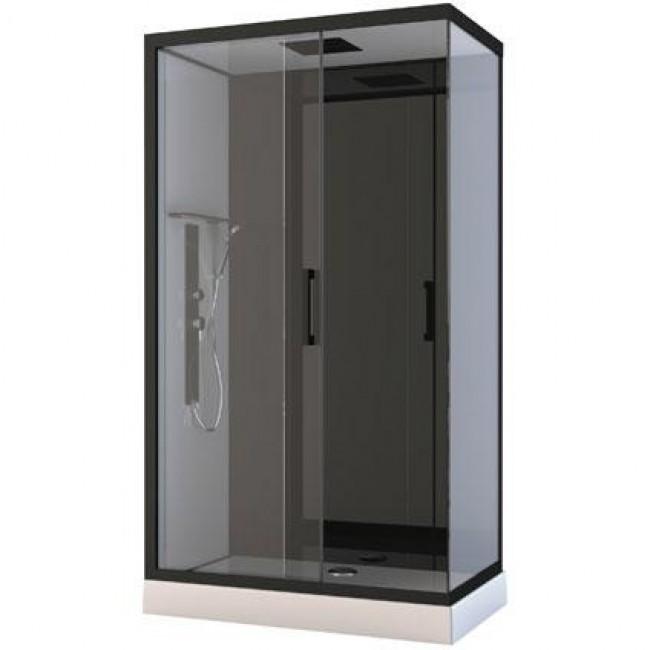 Cabine de douche - Pozzy III - 80x110x215 - Porte coulissante AURLANE