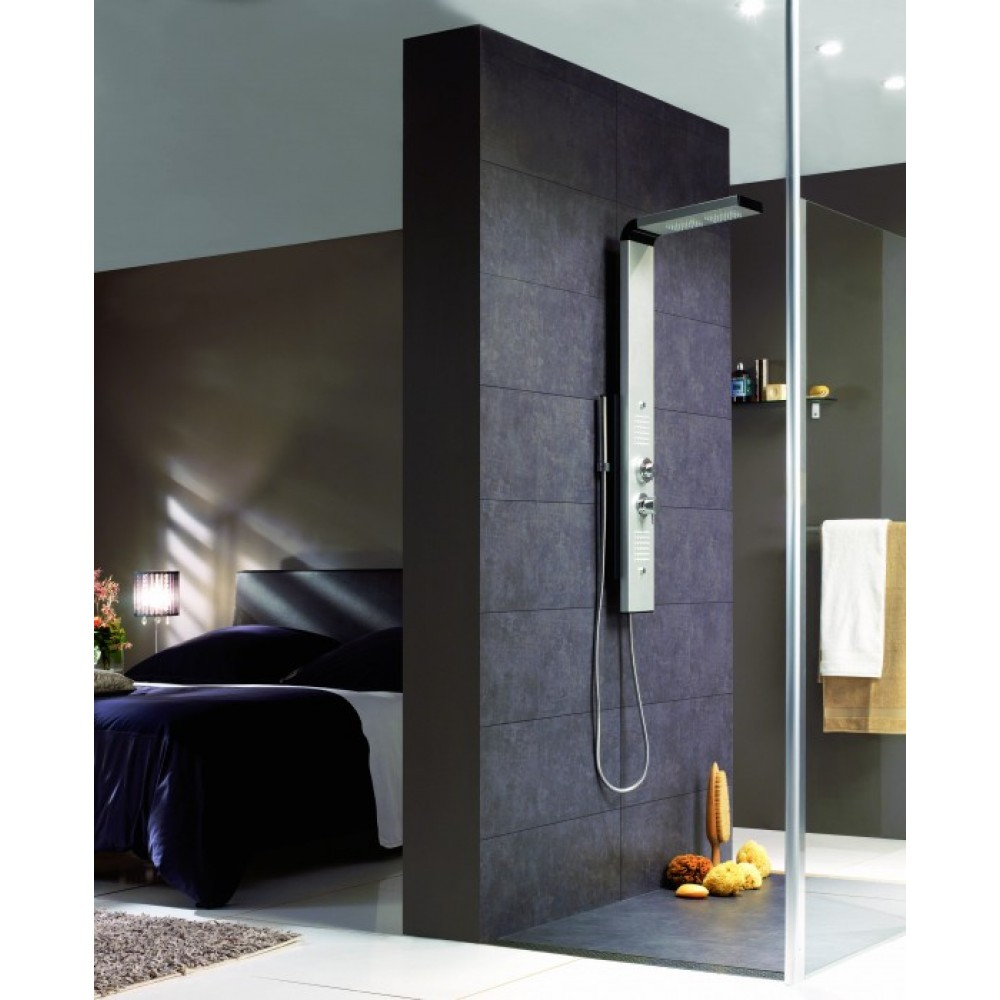colonne de douche thermostatique hydromassante dune valentin bricozor. Black Bedroom Furniture Sets. Home Design Ideas
