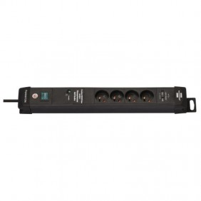 Rallonge multiprises Premium-Line avec prises USB et parasurtenseur BRENNENSTUHL