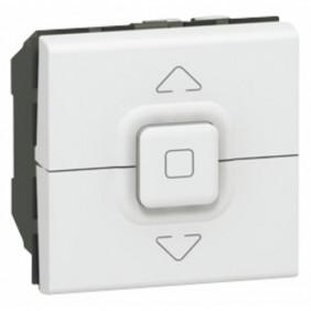 Poussoir pour volets roulants Mosaic - 2 modules - blanc LEGRAND