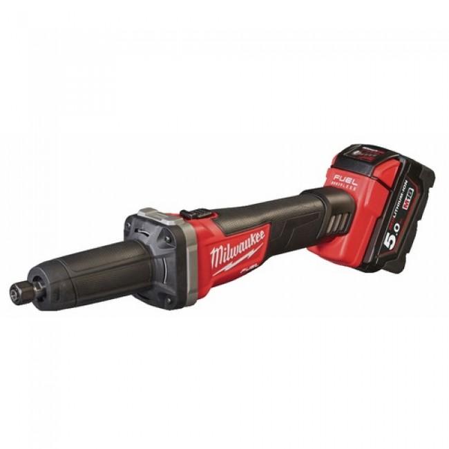 Meuleuse droite sans fil 18V + 2 batteries 5Ah - M18FDG-502X MILWAUKEE