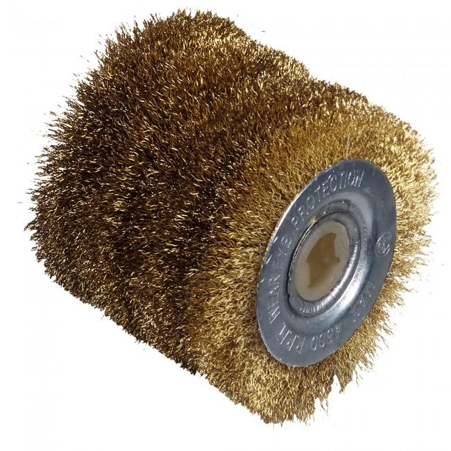 Brosse fil laiton pour mini rénovateur RDP601 - surfaces métalliques FARTOOLS