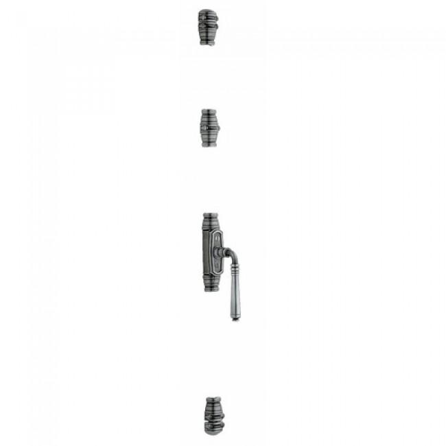 Fausse crémone étroite à béquille - Menuiserie bois ou PVC QUESDEVILLE