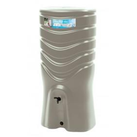 Récupérateur d'eau taupe + kit collecteur - 350 litres  - Recup'O EDA PLASTIQUES