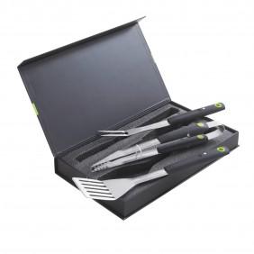 Coffret 3 accessoires aimantés - pince + spatule + fourchette COOK IN GARDEN