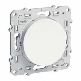 Interrupteur et poussoir - commande d'éclairage - blanc - Odace SCHNEIDER