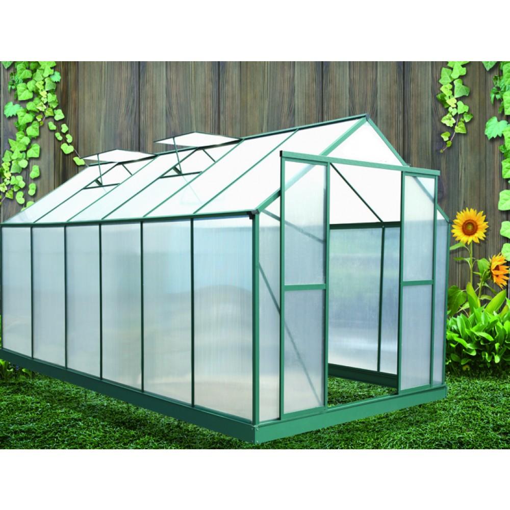 Serre de jardin polycarbonate 6 mm 12,81 m2 SR4330 HABRITA | Bricozor