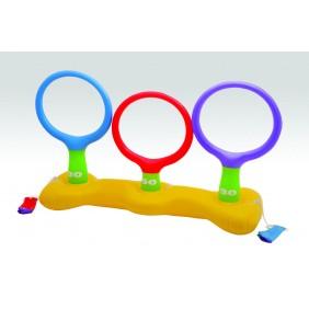Jeu d'adresse pour la piscine : 3 anneaux + 3 frisbees Intex