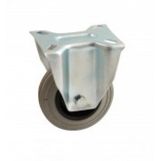 Roulette à bandage caoutchouc gris à platine fixe AVL
