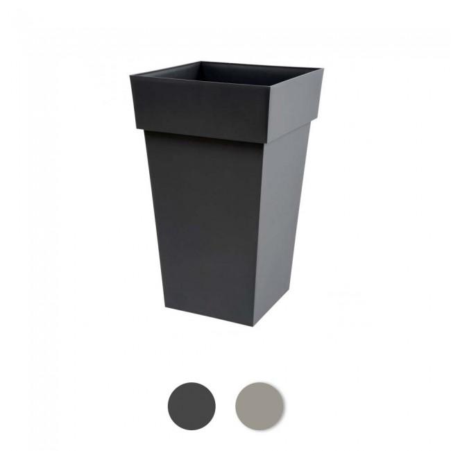 Pot carré haut - 39 x 39 cm - 62 litres - Toscane 13635 EDA PLASTIQUES