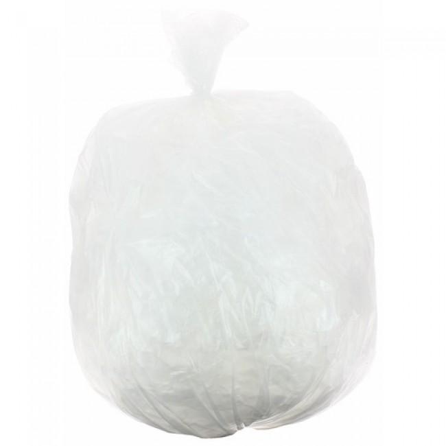 Sacs poubelle transparents 30 litres, 12 microns (x1000)