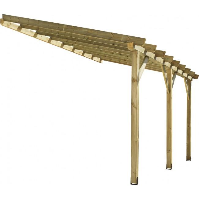 Carport en pin autoclavé -  longueur 418 cm - Protek ABT3030 JARDIPOLYS