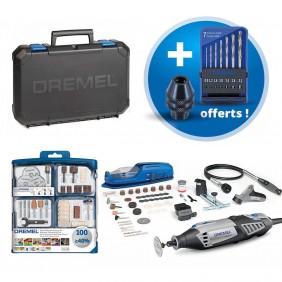 Dremel 4000 multi-fonction 175W 165 accessoires + mandrins et forets DREMEL