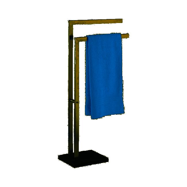 Porte serviette à poser - Slate Rock - Acier inox WENKO