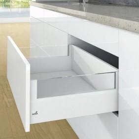 Kit tiroir DesignSide ArciTech - profil H126 mm - dos H218 mm HETTICH