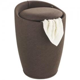 Tabouret/ bac à linge pour salle de bain - Candy - tissu WENKO