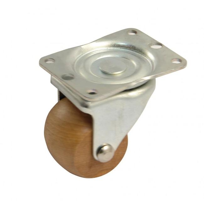 Roulette pour literie - platine 65 mm - charge 100 kg AVL