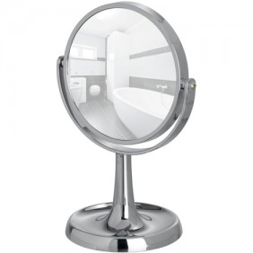 Miroir grossissant x5 - Rosolina - Chromé - Base incurvée WENKO