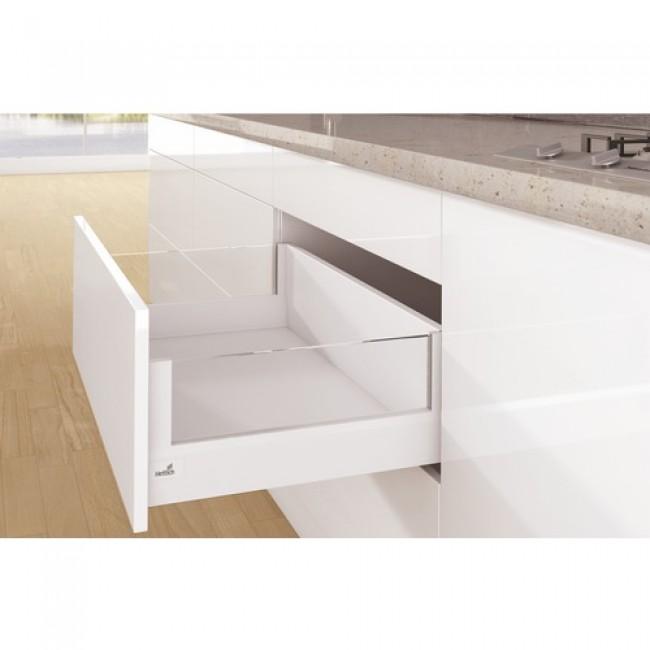 Kit tiroir DesignSide ArciTech-profil H94-dos H218mm-blanc HETTICH