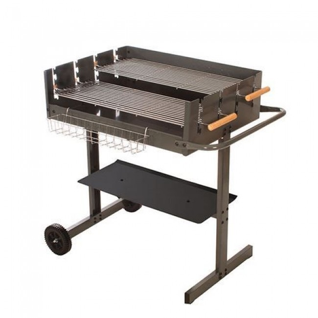 Barbecue charbon rectangulaire 75x57 cm - B7557 INDOOR OUTDOOR