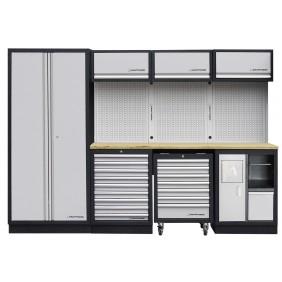 Meuble d'atelier modulaire 4 éléments plan de travail au choix MOBILIO KRAFTWERK