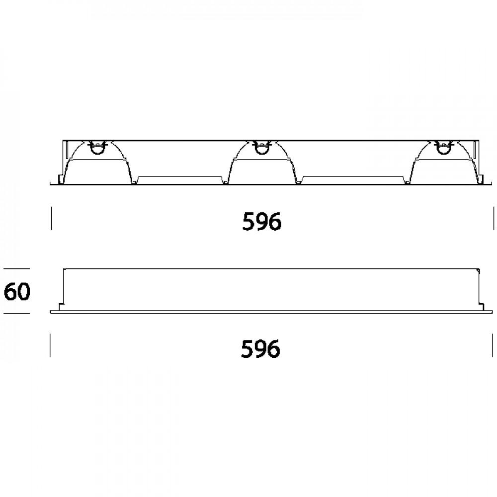 Plafonnier led dalle encastr e plafond modulaire - Plafonnier de chantier ...