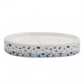 Porte savon - Céramique - pois bleu - Brest SPIRELLA