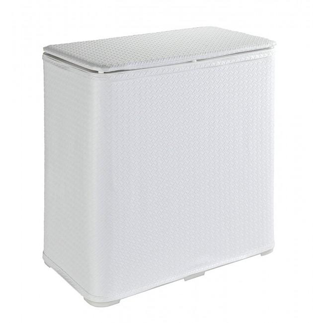 Panier à linge pour salle de bain - Wanda - ABS blanc WENKO