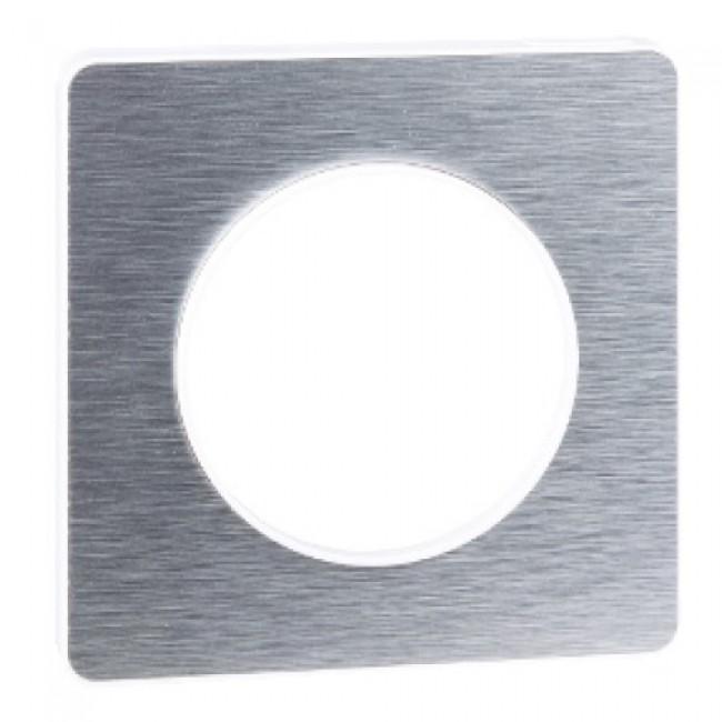 Plaque aluminium brossé  - Touch - Odace SCHNEIDER