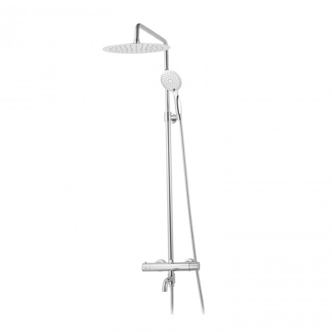 Colonne de baignoire thermostatique avec douche de tête ronde PERLA 02 SARODIS