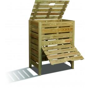 Composteur en bois - 80 x 50 cm - 400 litres - Pratik JARDIPOLYS