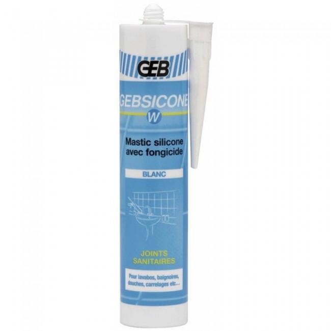 Mastic silicone sanitaire - acétique - Gebsicone W GEB