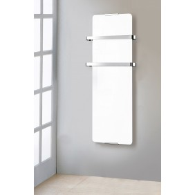 Radiateur sèche serviette 1200 W - vertical - Blanc CHEMIN' ARTE