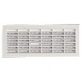 Grille de ventilation B111, 84x230mm, avec moustiquaire, à visser ou à coller NICOLL