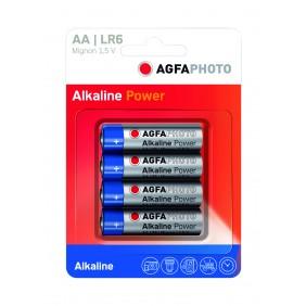 Blister 4 piles alcalines AA/LR6 AGFA