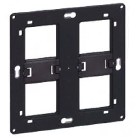 Support à vis Batibox - 2x2 postes - 2 x 4 ou 2 x 5 modules LEGRAND