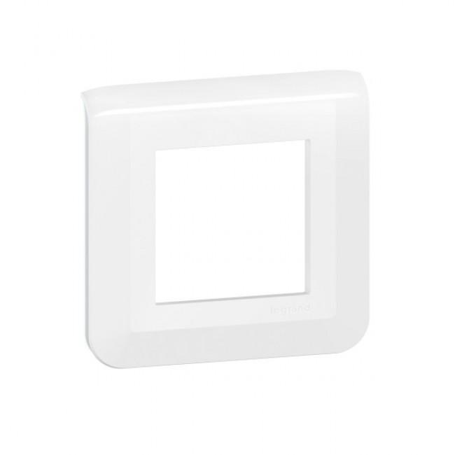 Plaque décorative blanche Mosaic - 1 poste - 2 modules LEGRAND
