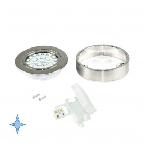 Spot LED Crux-in - lumière blanc froid - nickel satiné EMUCA