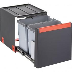 Poubelle tri-sélectif Cube 40 - pour caisson de 400 mm - 28 litres FRANKE