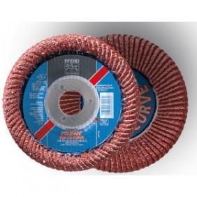 Disque à lamelles céramique : meulage et ébavurage acier PFR SGP CURVE PFERD
