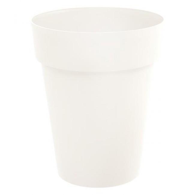 Pot rond mi-haut 44 cm blanc - 50 litres - Toscane 13629 EDA PLASTIQUES