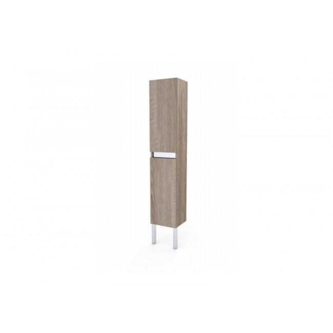 Colonne de rangement - Britty - 195x35 - Chêne naturel ou Blanc AURLANE