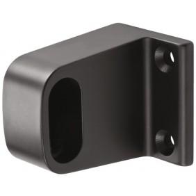 Support d'extrémité - mural - pour tube penderie ovale - noir - 1030 HERMETA