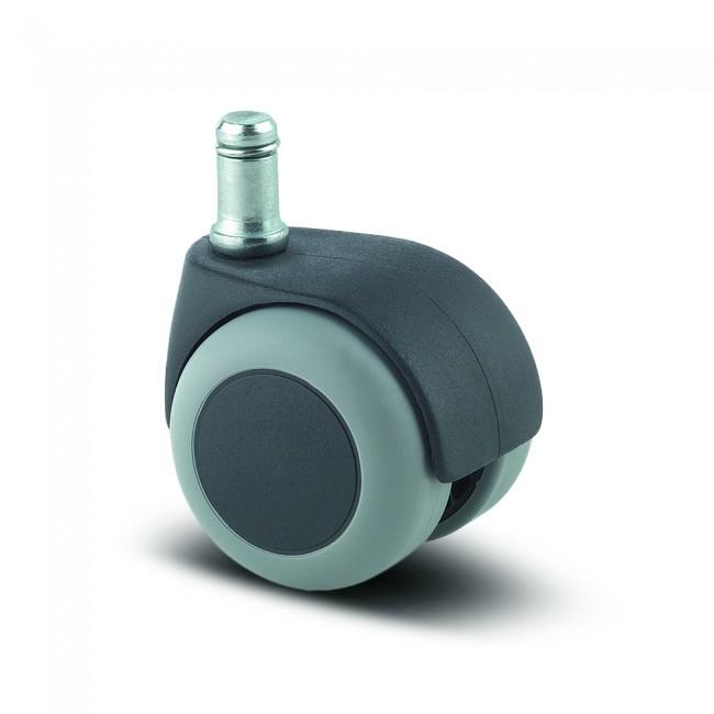Roulette pivotante pour chaise et fauteuil - moyeu lisse - Lumina TENTE