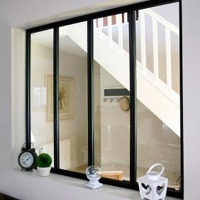 Kit verrière intérieure avec vitrage - 4 panneaux - 108 x 123,2 cm Kit Atelier