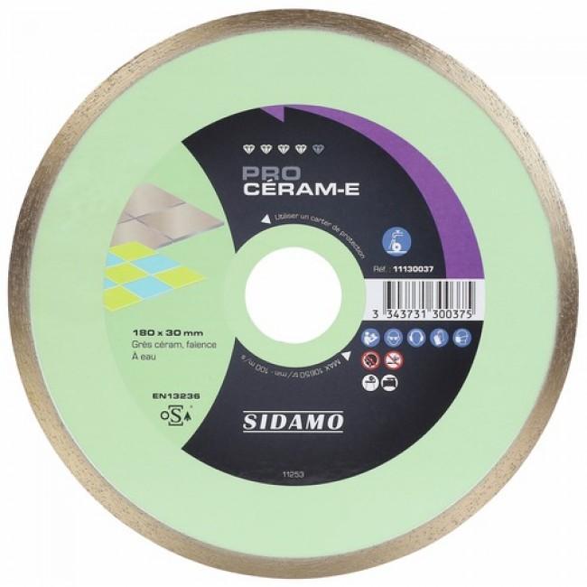 Disque diamant - jante continue - matériaux décoration - Pro Céram E SIDAMO