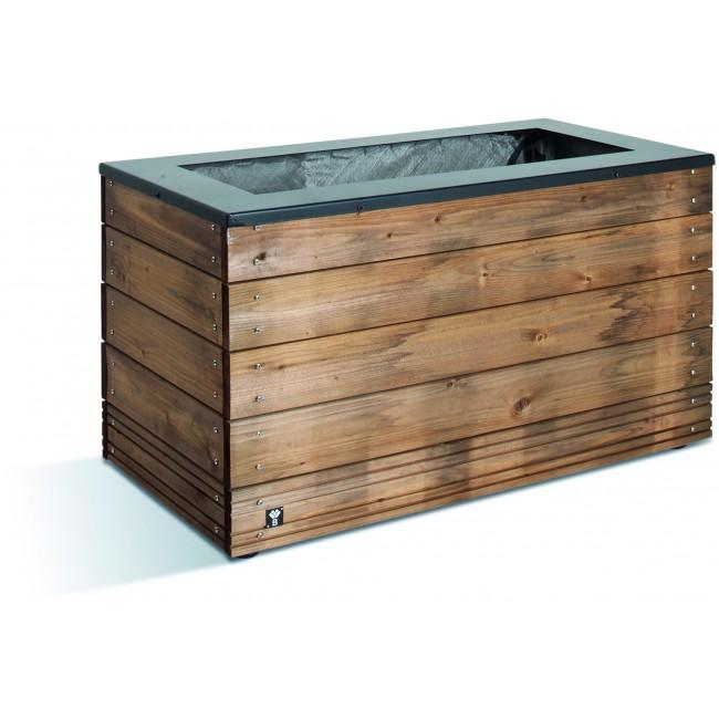 Jardinière en bois - 133 litres - 45 x 90 cm - hauteur 47 cm - Selekt JARDIPOLYS