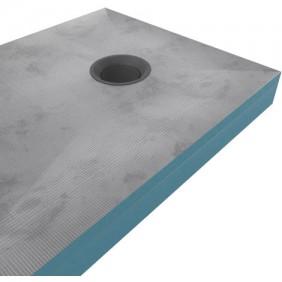 Receveur Shower plate - livré sans bonde- rehausse - deux dimensions AURLANE